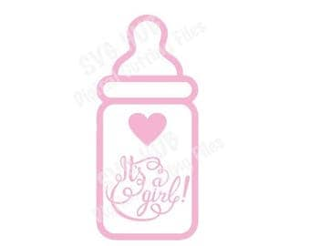 Baby Girl Cut Files, Baby Girl SVG, Cutting Files, Cricut SVG, Cameo svg, Silhouette SVG, Baby svg