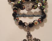 Stackable bracelet with cross charm
