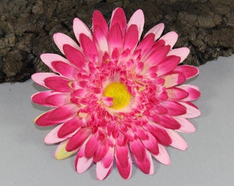 Vintage inspired rockabilly hair flower/Hairflower pink Gerbera
