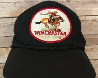Vintage Winchester Patch Snapback Hat