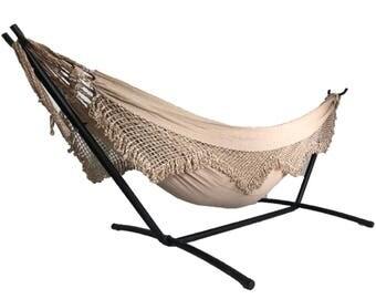 brazilian hammock with fringe  cupua  u reading hammock   etsy  rh   etsy