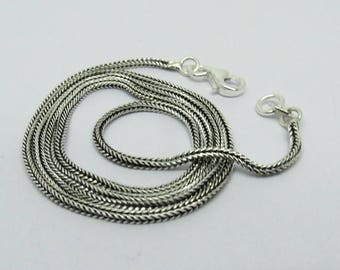 1 Piece Sterling Silver Chain Necklace 925 Sterling Silver Chain With Lobster Clasp Hook 18.5 Inch Long