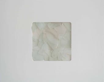Sea glass picture white