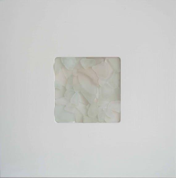 Sea glass picture white