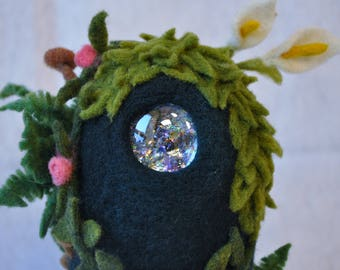 Needle Felted Forest Spirit Sculpture