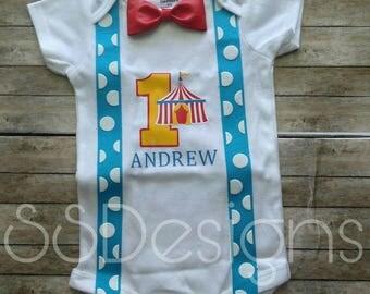 Circus birthday, First birthday shirt, first birthday circus, circus birthday shirt, circus first birthday