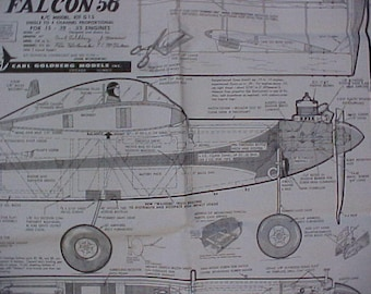 Falcon 56 RC Model Airplane Plans 56 inch Wing Span