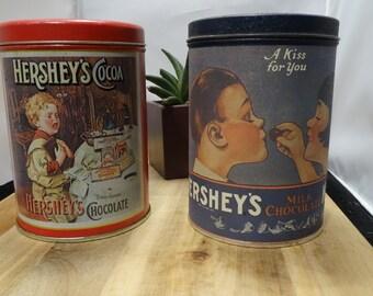 Hershey Metal Vintage Tin - Stash Box- Planter - Succulent