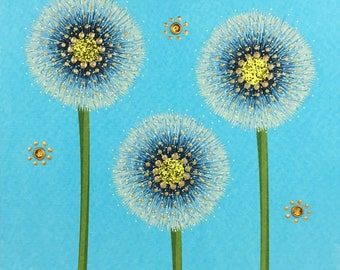 Blue Dandelion Wishes