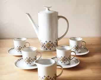 Vintage 1970's Winterling Roslau Coffee Pot Set