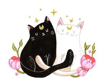 Sailor Cats art print