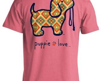 Puppie Love Brand Native Pup Azalea Cotton Short Sleeve T Shirt