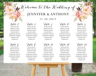 Wedding seating chart template, Wedding Seating Chart, Wedding seating poster, Navy seating chart, Seating chart, Alphabet chart, SC104