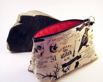 Ravens Makeup Bag, Toiletries Bag, Makeup Holder,Raven, Crow, Makeup Bag, Makeup Storage, Cosmetic Pouch, Cosmetic Bag, Gift Idea,