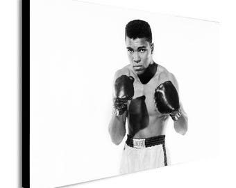 Muhammad Ali - Young Canvas Wall Art Print - Various Sizes