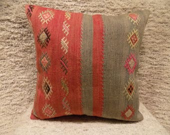 20x20 large kilim pillow cover,turkish kilim pillow,vintage pillow,decorative pillow,pillow,bohemian pillow,kilim cushion cover
