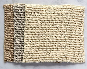 Brown Knitted Dishcloths