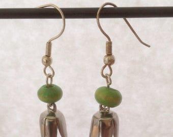 Hanging flower earrings