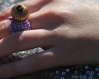 Elemental Gold Beaded Ring