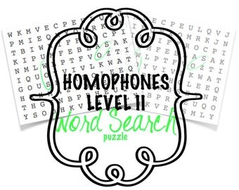 Homophones - Word Search Puzzle- Level II