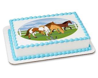 Horses Edible Frosting Sheet - 1/4 Sheet