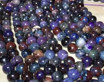 8.5-9mm Half or Full Strand Genuine African Sugilite Gemstone (NOT DYED) Round 8.5-9mm Loose Beads,Genuine Sugilite,Natural African Sugilite