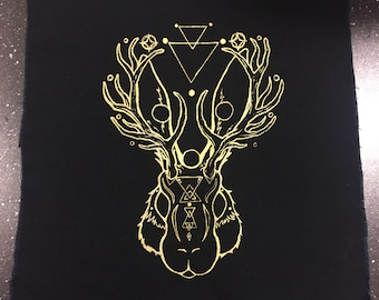 Jackalope Fabric Patch Sew-On