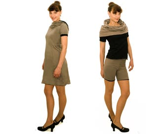LASALINA, 4inONE, designer, reversible, summer dress, summer dress, vegan