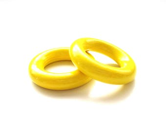 35mm yellow wood ring