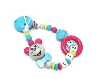 Pacifier pattern LIZA wooden beads
