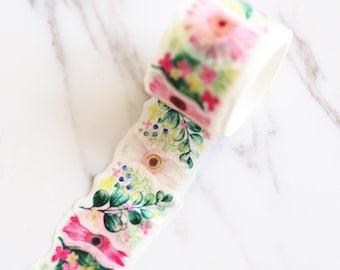 Floral  Washi Tape/Striped Washi / Masking tape/ japanese washi tape/Planner Supplies