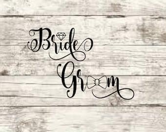 Bride Groom SVG