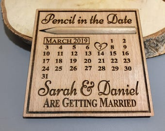 Pencil in the Date Save the Date Fridge Magnets