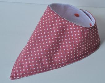 Raspberry Polka Dot Bib