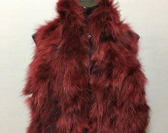 Luxury Red Fox Fur Collar- Scarf