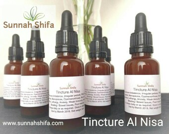 Tincture // Herbal Tincture // Herbal // non-alcoholic tincture // halal tincture // herbal drops // Tincture Al Nisa // for women