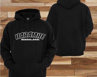 Harambe Hoodie Thrasher logo Hoodie pull over sweater