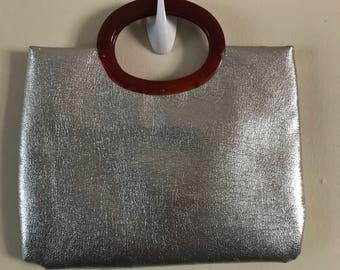 Vintage 60's Silver Chrome Purse