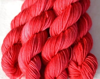Hand dyed skeinlings - Cherry