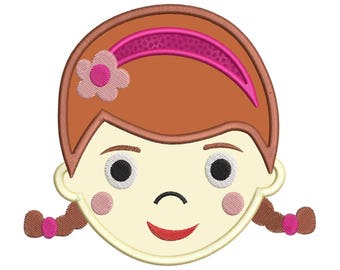 Doc McStuffins Face Applique Embroidery Design - Instant Download