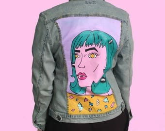 Pop Art Hand Painted Jacket