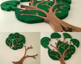 Wooden puzzle Forest Tree