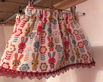 Skirt, Children's Skirt, Girls Skirt, bunnies, bunny skirt
