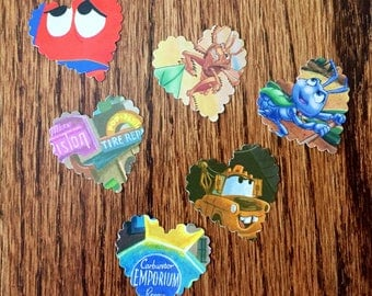 DISNEY PIXAR Heart Table Confetti, Scrapbooking, Birthday and Invitation Scatter, Disney Paper Hearts, Upcycled Storybook Pages
