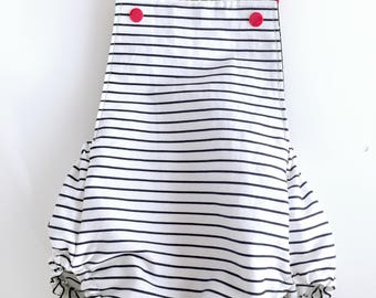 Peto sailor baby size 3-6 months. Frog baby. Clothes for baby