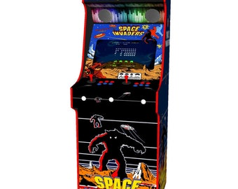Classic Upright Arcade Machine with 900 Games Space Invaders Theme