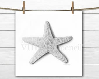 Starfish Print, Seashell, Nautical Art, Coastal Wall Art, Coastal Print, Seashore Art, Coastal Art, Seashore Print, Beach Print, Beach Art