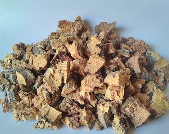 Cork tree bark, for Terrarium kit, Terrarium decor, vase filler, air plants, succulent plants, 7 oz, Bowl filler, Basket filler