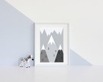 Geometric mountains - instant download