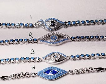 925 sterling silver evil eye bracelet